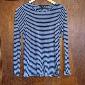 JCrew striped long sleeve tee
